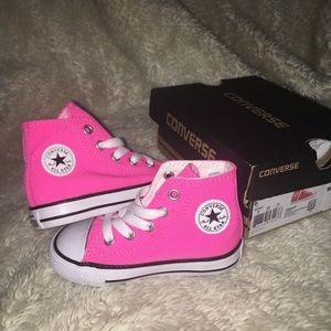 Converse ctas hi knockout pink white black